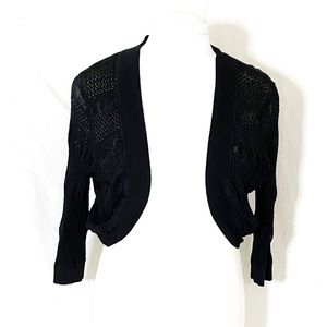 Pure Energy Black Knit Bolero Size 1x